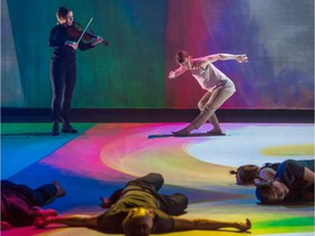 Arcade Fire violinist Sarah Neufeld performs in dance choreographer Peggy Baker's new show Who We Are In the Dark.