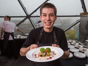 Chef Yannick LaSalle of Restaurant Les Fougères at the Ottawa edition of the Great Canadian Kitchen Party in October 2018.