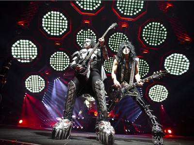 Kiss performs at the Bell Centre in Montreal, March 19, 2019.