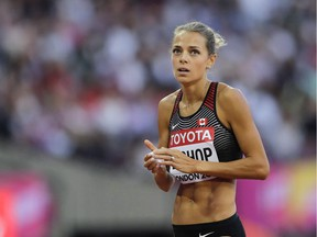 Melissa Bishop, Canada's top 800-metre runner, gave up running at 20 weeks during her pregnancy and replaced it with swimming, cycling and an elliptical trainer.