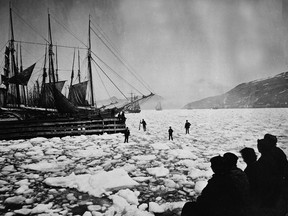 Boats in the ice in St. John's harbour are shown in a 1926 file photo. A Newfoundland genealogist has stumbled onto a rare and mysterious DNA quirk that he says could tell the untold story of the island's first European settlers.
