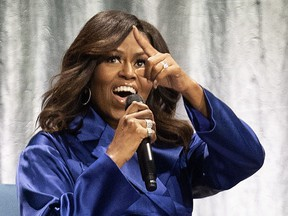 Michelle Obama in Montreal on Friday, May 3, 2019.