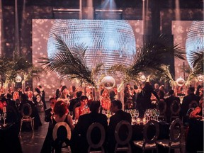 The room was discofied at Arsenal for the McCord Museum's Annual Ball.
