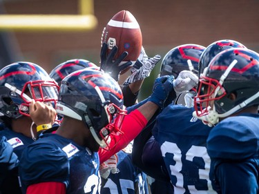 The Montreal Alouettes held a spring training camp at Percival Molson Stadium in Montreal on Monday June 3, 2019.