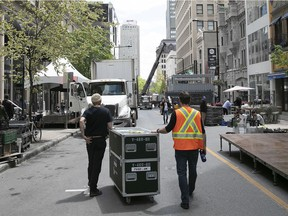 Peel St. is closed to motorists this week to make way for Grand Prix festivities.