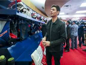 Canadiens goalie Carey Price leaves the team's locker room at the Bell Sports Complex in Brossard after meeting the media on April 9, 2019 after club missed the playoffs for second straight year.