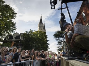 Michael Mlakar of Clay and Friends preforms Thursday at the Loto-Québec Stage at Wellington and Galt Sts., part of the popular new Verdun satellite site of the Montreal International Jazz Festival.