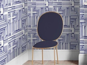 Wallpaper is a quick, easy way to add character to a bland space. Felt Tip Indigo Wallpaper, from $100/roll, GrahamBrown.com