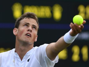 Vasek Pospisil had back surgery this year. His only match in the past eight months was a four-set loss to Auger-Aliassime in the first round at Wimbledon. He'll play Joshua Peck in the second round at the Granby Challenger event.
