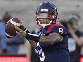 """""""I feel like I have to lead and help win a few more games so I can say this is my team,"""" Alouettes QB Vernon Adams says."""