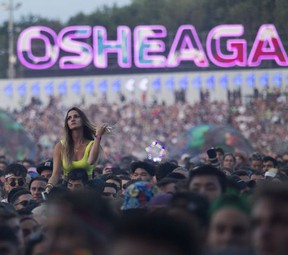 Crowd watches Flume on day 1 of the Osheaga Music and Arts Festival at Parc Jean-Drapeau in Montreal Friday, August 2, 2019.