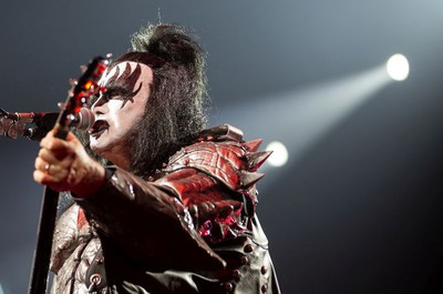 Gene Simmons of KISS performs their End of the Road farewell tour in Montreal, Quebec August 16, 2019.