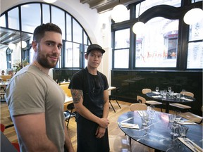 Chef/owner Michael Tozzi, left, and chef Ritchie Nguyen offer a menu with a slight Italian bent at Dandy.