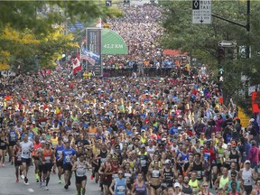 Organizers of the Montreal Marathon issued a statement saying they were profoundly saddened to learn at a runner had died after participating in the race.