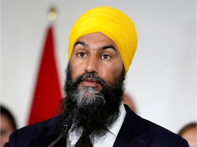 While NDP Leader Jagmeet Singh was campaigning in the Atwater Market, a man him and told him to remove his turban.