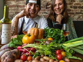 Juan Lopez Luna and Lindsay Brennan, partners and co-owners of Alma, an Outremont restaurant and wine bar on Sunday October 13, 2019.