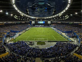 The Olympic Stadium was sold out for an MLS playoff match between the Montreal Impact and Toronto FC in Montreal on Nov. 22, 2016.