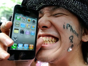 Uncontrollable excitement for the iPhone 4 in 2010. Remember actually calling people on your phone?