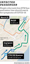 Map: STM 106 Newman and Green Line métro