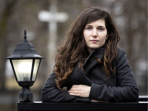 Anna Kamateros is a notary and has been flooded with calls from people wanting to have a will put in place as the city deals with the coronavirus pandemic in Montreal on Friday, April 3, 2020.
