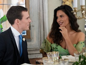 Sam Claflin and Olivia Munn try to thwart the powers trying to keep them apart in Love Wedding Repeat