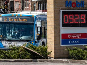 Gas prices went up to almost $1 overnight in Verdun May 6, 2020.