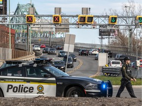 The weather is warming and the SQ are monitoring traffic speeds in the greater Montreal area on Thursday May 14, 2020.