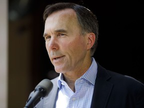 Finance Minister Bill Morneau speaks to media during a press conference in Toronto, Friday, July 17, 2020.