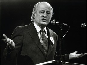 "Premier René Lévesque ""was not only the leader of the sovereignty movement but its moral conscience, a principled democrat who tried to distance it as much as possible from violence,"" Don Macpherson writes. ""After Lévesque died in 1987, however, the sovereignist mainstream moved toward reconciliation with the FLQ sympathizers."""