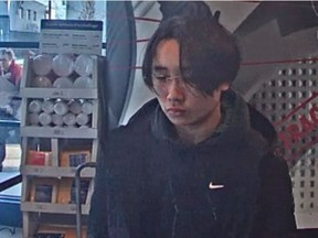 Laval police are seeking help from the public to identify a man they allege committed fraud by picking up three iPhones at a courier that he did not pay for. Photo: Laval police