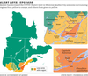 MAP: Quebec COVID-19 alert levels