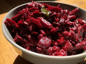If you can't find curry leaves, you can substitute them with lime zest and basil leaves in this recipe for beet curry.