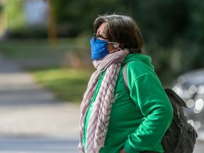 """Face masks should comprise two layers of tightly woven fabric such as cotton or linen, plus a third layer of a """"filter-type fabric"""" such as non-woven polypropylene, according to the Public Health Agency of Canada."""