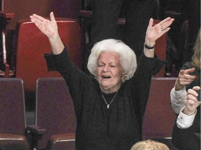 """Élise Béliveau witnessed the Montreal Canadiens' victory over the Vancouver Canucks on Dec. 9, 2014, the day before Jean Béliveau's funeral. """"She's authentic,"""" says Isabelle Éthier, who spoke to Béliveau for the website femme.hockey."""