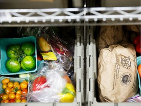 Boxes of fresh groceries are ready to be delivered in this handout pic from Lufa Farms.