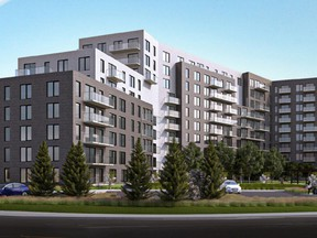 Brivia Group has proposed a high-end apartment complex at the corner of St-Jean Blvd. and Chaucer Ave. in Pointe-Claire.