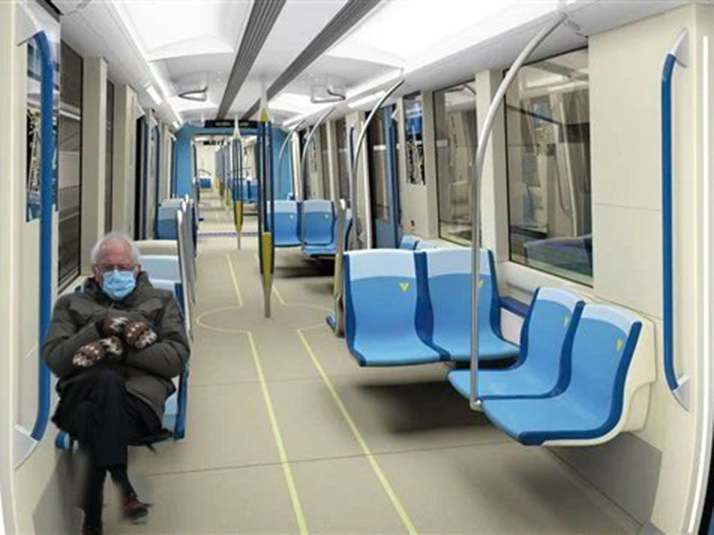 Even The Stm Is Getting In On The Bernie Sanders Inauguration Meme Montreal Gazette