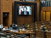 Prime Minister Justin Trudeau speaks via videoconference during question period in the House of Commons on Monday, Jan. 25, 2021.