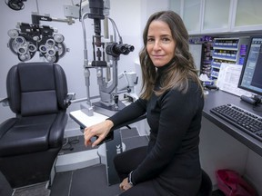 """""""I've definitely noticed a big increase in people of all ages being affected by all kinds of eye challenges,"""" says optometrist Lori Medoff, at the Harry Toulch store in Westmount."""