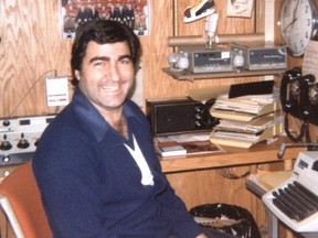 Montreal sportscaster Jim Bay in the CKGM newsroom in 1982. Bay died at the Brockville General Hospital Feb. 4, 2021.