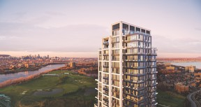 Symphonia VIU will offer stunning panoramic views of the city, golf course and the St. Lawrence River. SUPPLIED