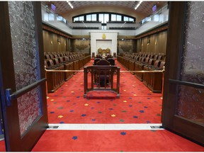 The Senate chamber has a temporary home in Ottawa's former downtown train station, while renovations are underway in the Parliament Buildings.