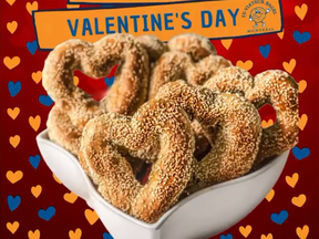 St-Viateur's heart-shaped bagels are being offered in limited quantities on Valentine's Day.