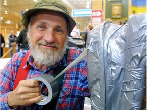 Red Green (Steve Smith) is seen in Edmonton in 2002 promoting his movie Duct Tape Forever. Duct tape's versatility was a running gag on highly popular The Red Green Show, which aired on CBC television for 15 years, ending in 2006.