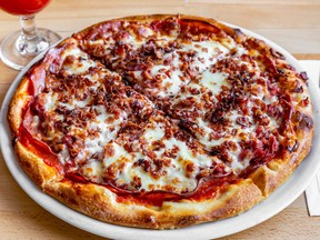 Riviere-des-Prairies' Pub Marco Polo is participating in the first-ever La Pizza Week with this Meatlovers pie.