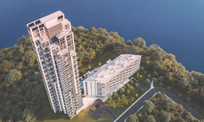Symphonia VIU is a sleek 43-storey tower with sophisticated and edgy interior design. SUPPLIED