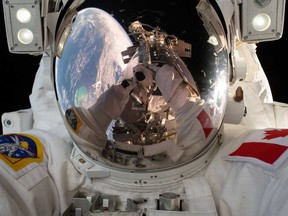 Canadian astronaut David Saint-Jacques, who features in Felix & Paul Studios' Space Explorers: The ISS Experience, takes a selfie in space.