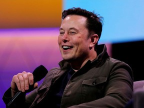 Tesla CEO Elon Musk speaks during the E3 gaming convention in Los Angeles, California, U.S., June 13, 2019.