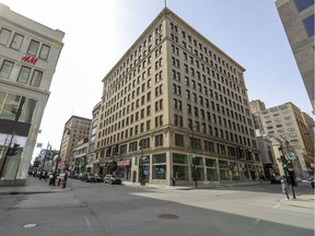 Corner of Peel and Ste-Catherine Sts. during a peak in the pandemic in March 2020. Recovery will be difficult, Robert Libman writes.