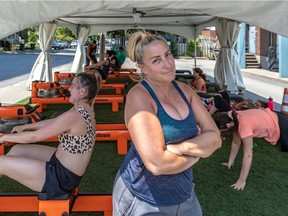 Orangetheory Fitness has set up a tent to continue exercise classes during the pandemic. Co-owner Melanie Shernofsky has had to deal with trash and human feces in the tent due to local residents showing their displeasure with the outdoor setup.